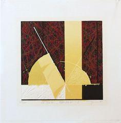 Modern Abstract Sosaku Hanga. Original by JapanesePrintsPlus