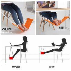 2 Colors Fuut Desk Feet Hammock Desk Foot Cot Bed Office Home Foot Rest Tools