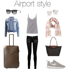 A fashion look from June 2015 featuring loose shirt, distressed denim jacket and rock n roll jeans. Browse and shop related looks. Fashion Pics, Fashion Looks, Rock And Roll Jeans, Travel 2017, Traveling Tips, Loose Shirts, Airport Style, Packing, Denim