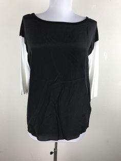 Bailey 44 Blouse Size XS Black White Silk Blend 3/4 Sleeves Womens Shirt Top #Bailey44 #Blouse