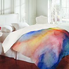 DENY Designs Home Accessories | Jacqueline Maldonado Torrent 1 Duvet Cover - dreamy watercolor comforter