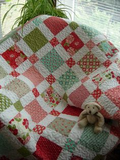 Little Miss Baby Girl Crib Quilt by WoodenNeedleNook on Etsy, $134.00