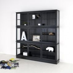 Sort vitrineskap - Oliver furniture