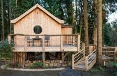 It's marketed as a luxury treehouse, but – it's really a yurt! On stilts. We're talking about the Birdhouse, a glamping-type rental in Somerset, England, and from the outside it does make a very nice looking forest cabin, dressed in long cedar planks and standing tall on stilts made from rough tree trunks. The interior, though – you were expecting maybe a lot of ...