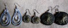 zipper earrings /vetoketjukorviksia /ArjaS