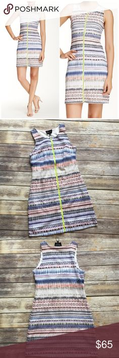 """✳️SALE✳️NWT Romeo & Juliet  Sleeveless Dress Romeo & Juliet Couture Sleeveless Dress. Zip out front with contrast color. Measures from pit to pit 18""""/ length 34""""/ made of polyester/ spandex blend. Fully lined Romeo & Juliet Couture Dresses"""