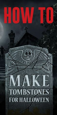 how to make a halloween graveyard - Halloween Tombstone Decorations