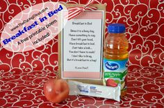 """{Breakfast In A Bag!} A spin on """"breakfast in bed"""" and a cute FREE printable is included!  www.thedatingdivas.com #printable #breakfast #breakfastinbed"""