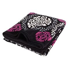 """Throw Blanket in Canterberry Magenta 