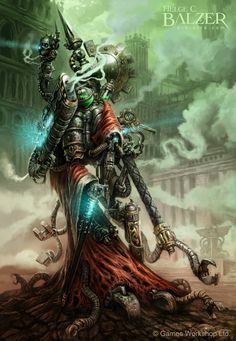 Mechanicus - Techpriest - (c) Games Workshop Ltd. by helgecbalzer on DeviantArt