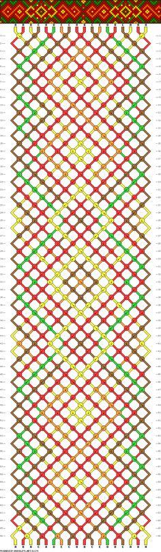 18 strings, 5 colors, 66 rows #Spiral #Twist #FriendshipBracelet