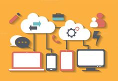 Cloud computing concept technology by ralelav on @creativemarket