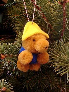 DIY paddington bear ornament
