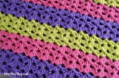 Fiber Flux...Adventures in Stitching: Free Crochet Pattern...Sorbetto Baby Blanket & Play Mat!