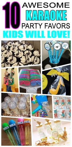 Great karaoke party favors kids will love. Fun and cool karaoke birthday party favor ideas for children. Easy goody bags, treat bags, gifts and more for boys and girls. Get the best karaoke birthday party favors any child would love to take home. Loot bags, loot boxes, goodie bags, candy and more for karaoke party celebrations.