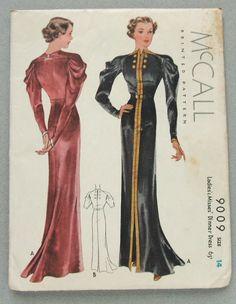 McCall 9009 | ca. 1936 Ladies' & Misses' Dinner Dress