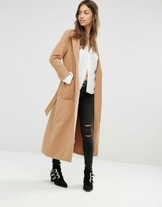 Buy Boohoo Longline Belted Robe Coat at ASOS. With free delivery and return options (Ts&Cs apply), online shopping has never been so easy. Get the latest trends with ASOS now. Cute Winter Coats, Winter Coats Women, Coats For Women, Asos, Mode Mantel, Tailored Coat, Jeans Slim, Camel Coat, Long A Line