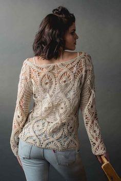 Вязание в стиле БОХО   VK Crochet Hooks, Free Crochet, Interweave Crochet, Summer Patterns, Yarn Needle, Stitch Markers, Crochet Patterns, Pullover, Lace