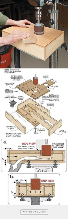 Dust-Free Sanding Table | Woodsmith Tips - created via http://pinthemall.net #woodworkingtools