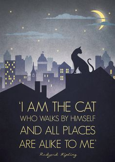 Original Design Art Deco Bauhaus A3 Poster Print Vintage 1930s Cat Fashion Vogue 1940s Rudyard Kipling Quote City Cityscape. £12.50, via Etsy. (Downton Abbey quote too haha)