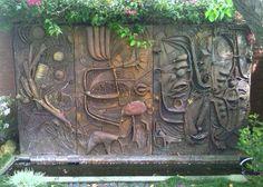 """Waterwall"" ceramic wall fountain. Rhoda Lopez   Flickr - Photo Sharing!"