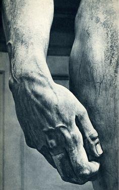 Michelangelo's David, detail