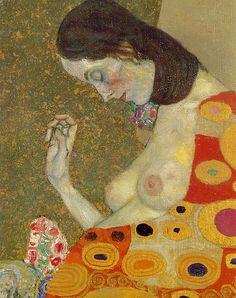 Gustav Klimt Hope II Detail, 1907