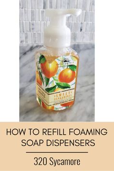 how to make homemade foaming soap refill DIY Homemade Hand Soap, How To Make Homemade, Foaming Hand Wash, Diy Bath And Body Works Foaming Soap, Body Soap, Diy Cleaning Products, Cleaning Tips, Bath Products, Cleaners Homemade