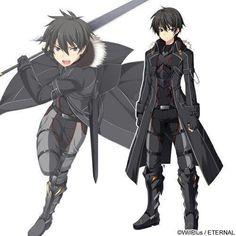Fantasy Armor, Anime Fantasy, Dark Fantasy Art, Fantasy Character Design, Character Design Inspiration, Character Art, Sword Art Online Wallpaper, Sword Art Online Kirito, M Anime