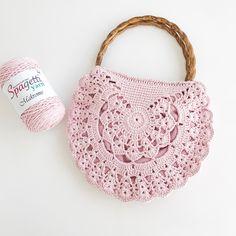 De Croche De Croche barbante De Croche com grafico De Croche de mao De Croche festa - Bolsa De Crochê Free Crochet Bag, Crochet Purse Patterns, Crochet Shoes, Knit Crochet, Knitting Patterns, Crochet Clutch, Crochet Braids, Crochet Handbags, Crochet Purses