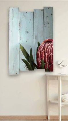 Protea Pallet Art, Crafts, Manualidades, Handmade Crafts, Craft, Arts And Crafts, Artesanato, Handicraft