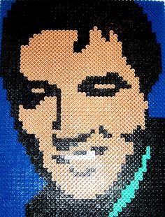 Perler Bead Portrait ELVIS by MostFavoriteAunt on Etsy