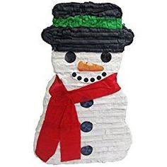 """Pinatas Snowman Christmas Party Game, Decoration and Photo Prop, 20"""" H"""