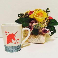 Unicorn Glitter Mug by EnchantingCreations7 on Etsy