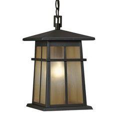 Front Porch light - Portfolio Amberset 14.25-in H Specialty Bronze Outdoor Pendant Light Item #: 482301
