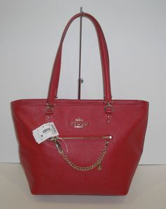 12dc026cc1 NWT Coach 34817 Town Car Crossgrain Leather Tote Bag RED Retail  350  Coach   TotesShoppers
