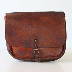 Vintage US Mail Leather Bag by bellalulu on Etsy