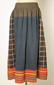 Skirt, ca.1800–1939, Russian, wool - Love the combination of different colors and patterns