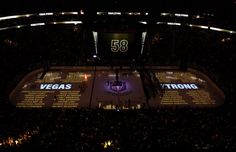 After an emotional pregame ceremony honouring 58 victims of the Oct. 1 mass shooting in Las Vegas, the Golden Knights charged into their home opener w. Golden Night, Las Vegas Photos, Toronto Star, St Louis Blues, Vegas Golden Knights, Country Music, Nhl, Hockey, The Incredibles
