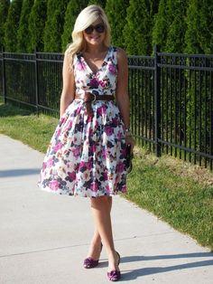 Suburban Faux-Pas: Floral Flow in our summer floral dress