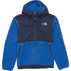 The North Face Denali Hooded Fleece Jacket - Boys'Recycled Snorkel Blue