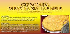 #Crescionda #cornmeal and #apples Apples, Italy, Recipes, Food, Italia, Recipies, Essen, Meals, Ripped Recipes