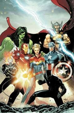 iron man , capitan marvel, black panther, capitan america, thor e she hulk Arte Dc Comics, Bd Comics, Marvel Comics Art, Marvel Heroes, Rogue Comics, Marvel Marvel, Avengers Earth's Mightiest Heroes, Avengers Art, Avengers Comics