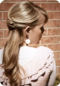 half-up, half-down hairstyle