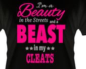 YOUTH - Softball Shirt - Beauty in the Street and a Beast in my Cleats.