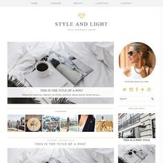 Love this new blog design by pipdig - it's the perfect minimal style!  Blogger Template: Style & Light