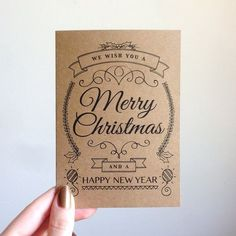 Merry Christmas and Happy New Year Typeography by SubstellarStudio, $3.00