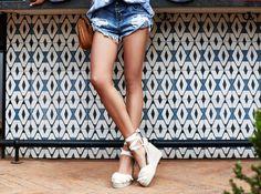 VivaLuxury - Fashion Blog by Annabelle Fleur: BOHO BLOUSE - ENGLISH FACTORY Boho blouse | ONE TEASPOON Pacifica Bandits shorts | CHLOÉ Inez studded-trim cross-body bag & Jayme cat-eye gold-tone sunglasses | CASTANER Tiered fringe espadrille wedge sandals | BAUBLE BAR Pavé alpha cuff & white stud bracelet trio June 3, 2016