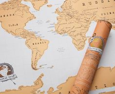 Scratch Map is a amazingly high quality, uber-massive wall map, featuring a gold top foil layer. Why? Because you get a unique, slick looking gold wall map to start with, and then scratch off all the places you've visited to reveal a whole new world below, featuring colour and geographical detail. The result is a totally unique and personalised world map. What a great gift. Comes packaged in a slick tube, the ultimate in Travel gifts!