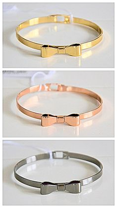 fashion jewelry. gold-plated metal bracelet with a bow. contact me: olapolakk@gmail.com